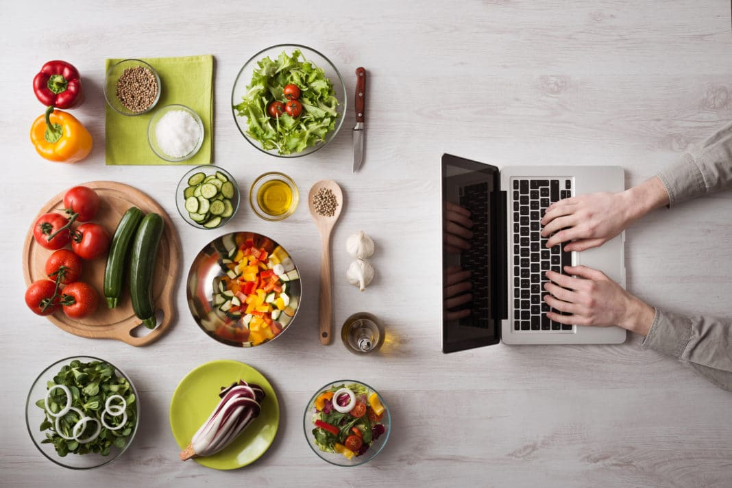 Photo of Laptop and Food